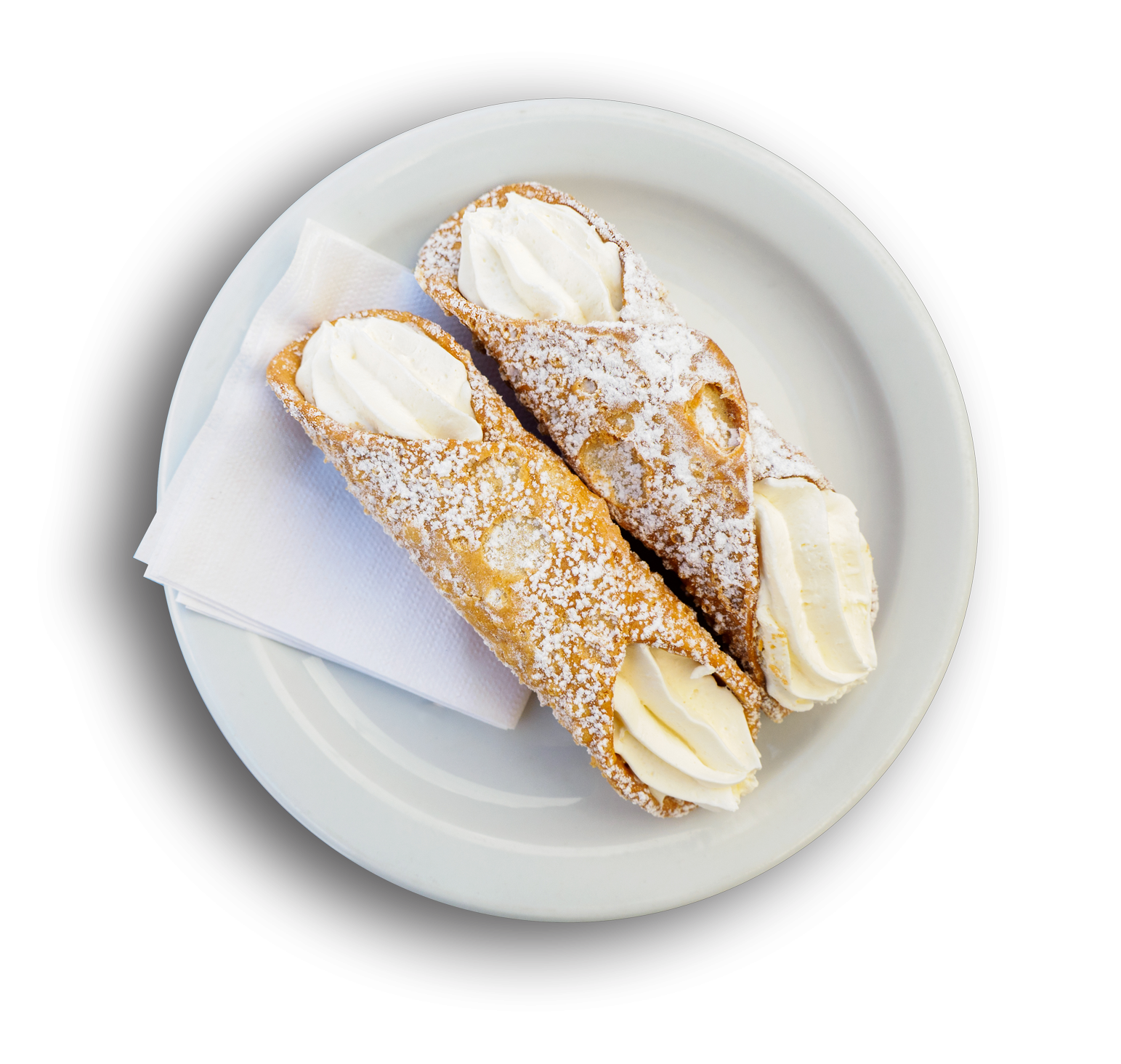 cream filled canolis